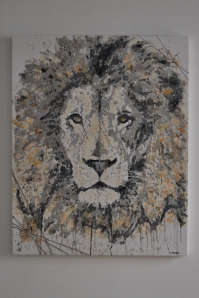 "SOLD ""Trapped Lion"" 100 x 80 cm"