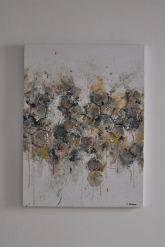 "SOLD ""Old Football"" 80 x 60 cm"
