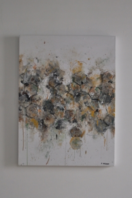 """SOLD """"Old Football"""" 80 x 60 cm"""