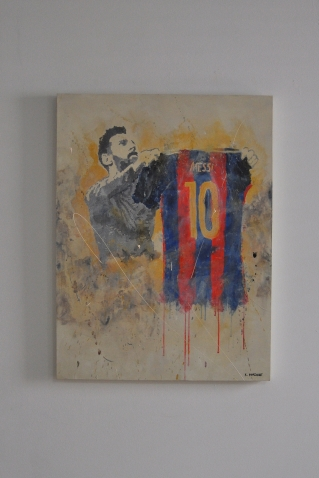 "SOLD ""Messi"" 80 x 60 cm"