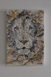 "SOLD ""Small Lion"" 35 x 24 cm"